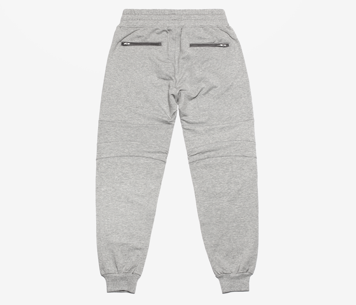 Grey Essential Moto Warm Up Pant