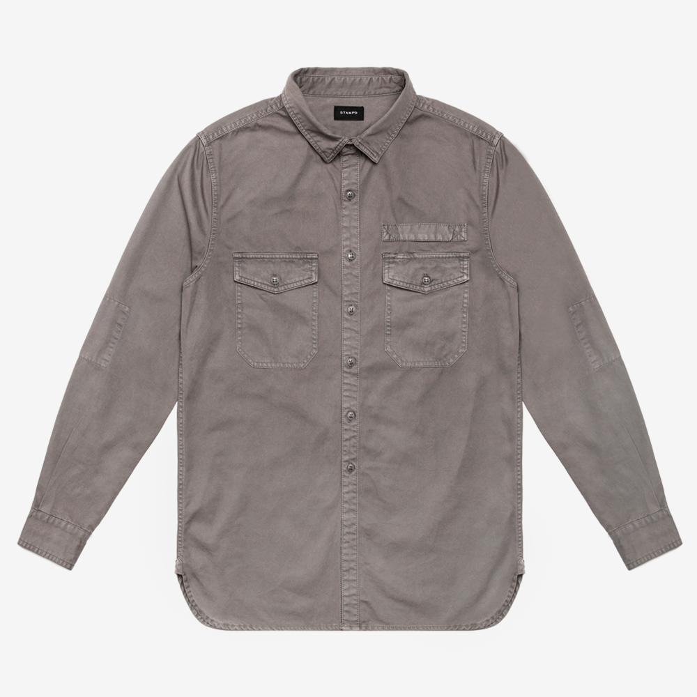 Washed Denim Work Shirt
