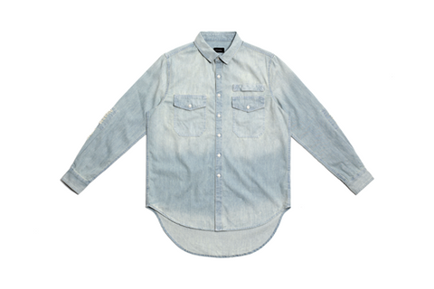 REPAIRED DENIM SHIRT