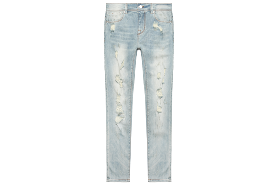 Distressed Skinny Fit Denim