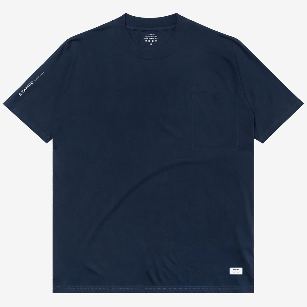 Mock Neck Pocket Tee