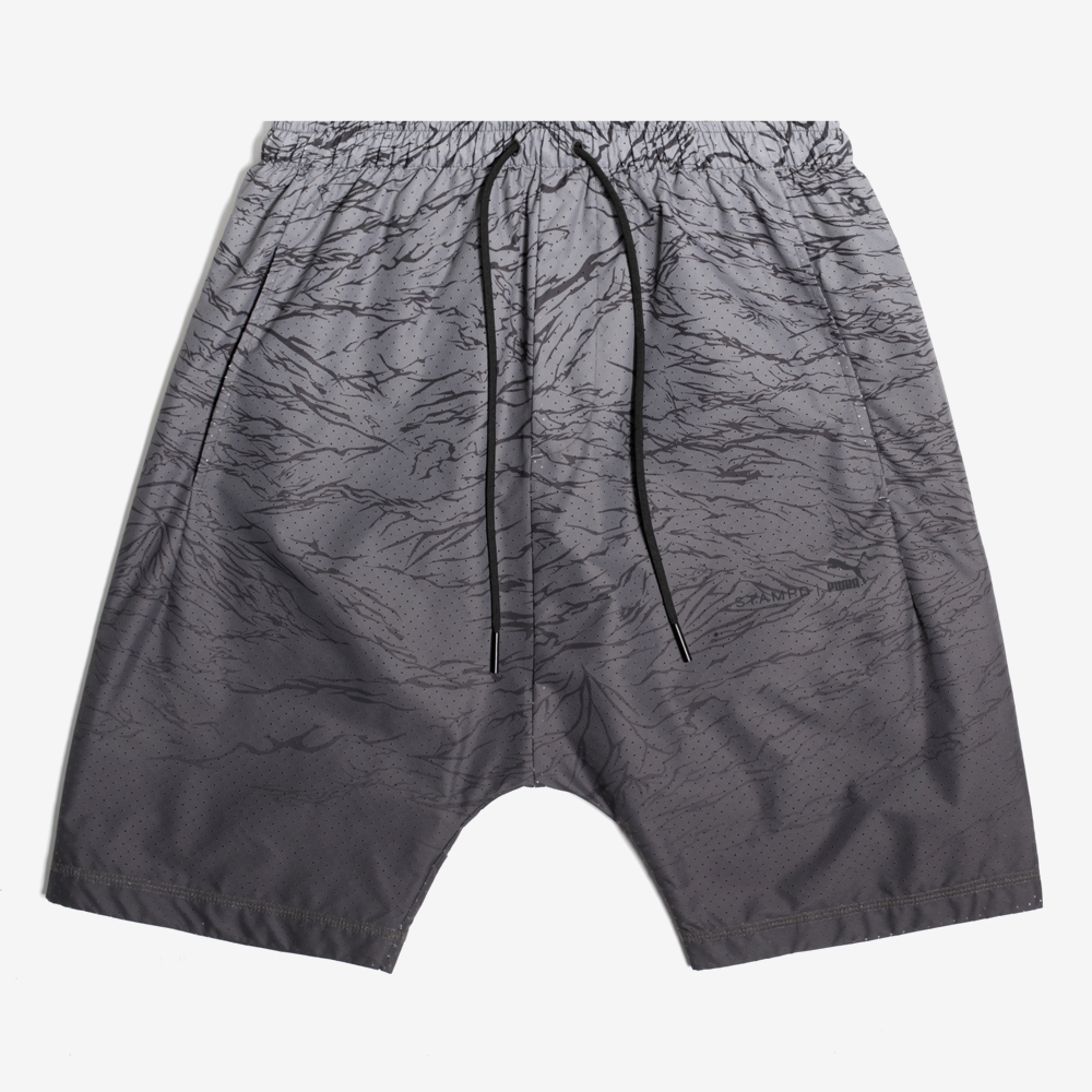 Stampd x Puma Running Techy Shorts - Black Gradation
