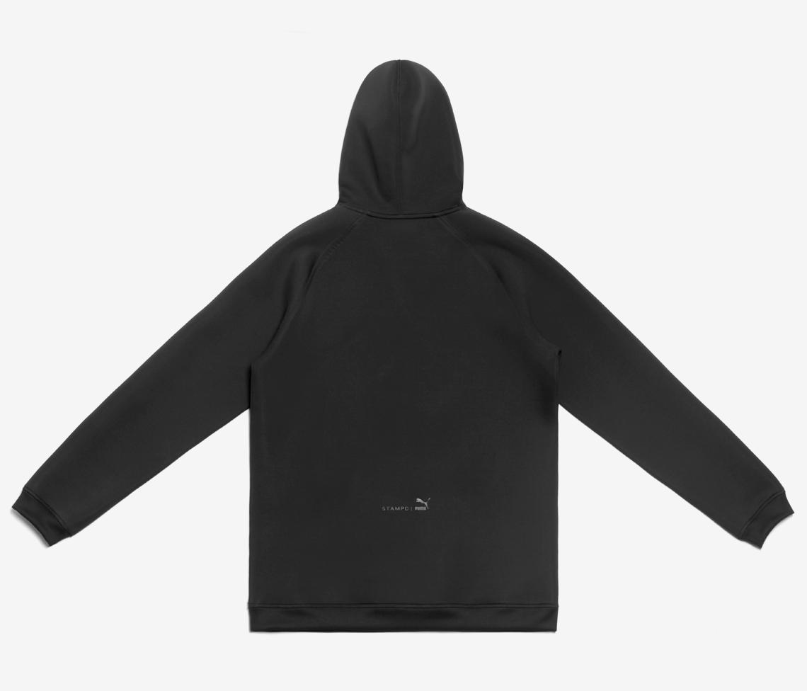 Stampd x Puma Drop Neck Sweatshirt - Black