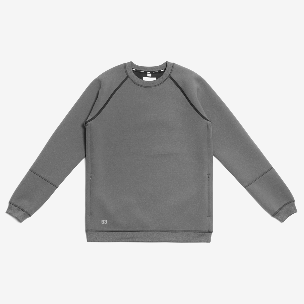 Stampd x Puma Raglan Crew Sweatshirt - Dark Heather Grey