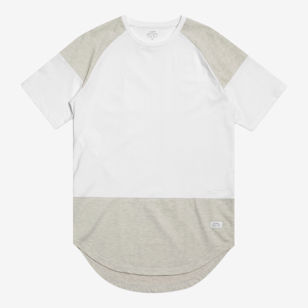 BUILDING BLOCK SCALLOP TEE