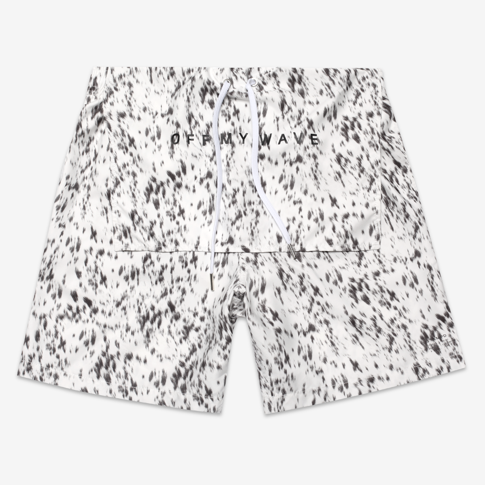 Calf Hair Print Trunks - White