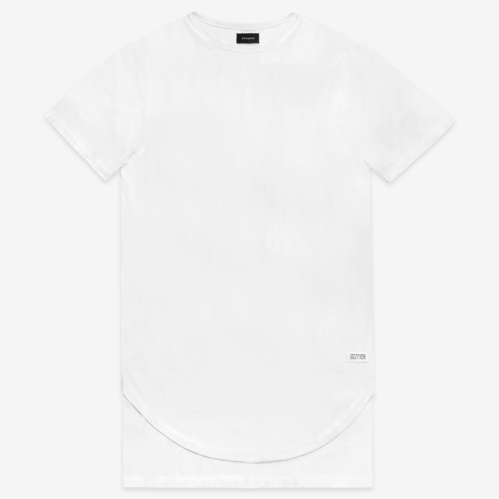 White Double Layer Scallop Tee