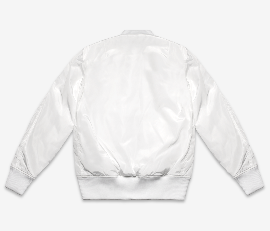 White Flight Bomber Jacket