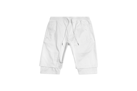 LAYERED CREW SHORT