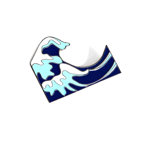Oversized Wave Pin