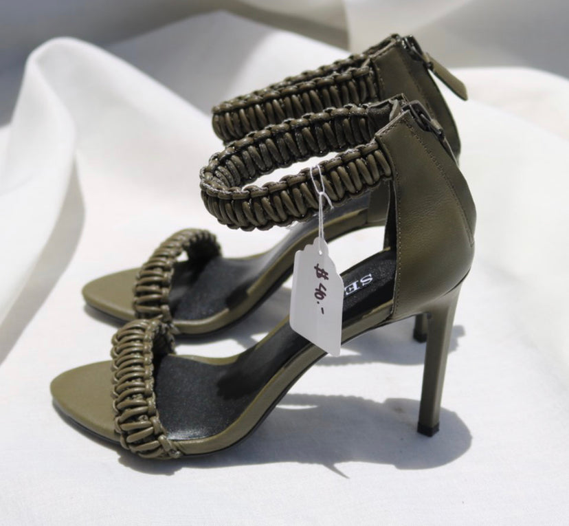 Senso Forest Green Heels