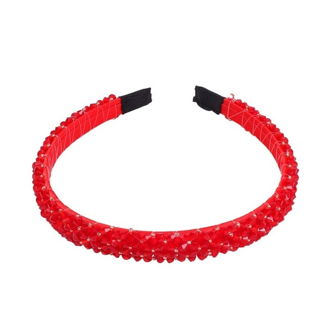 Fashion New Handmade Beaded Crystal Headband