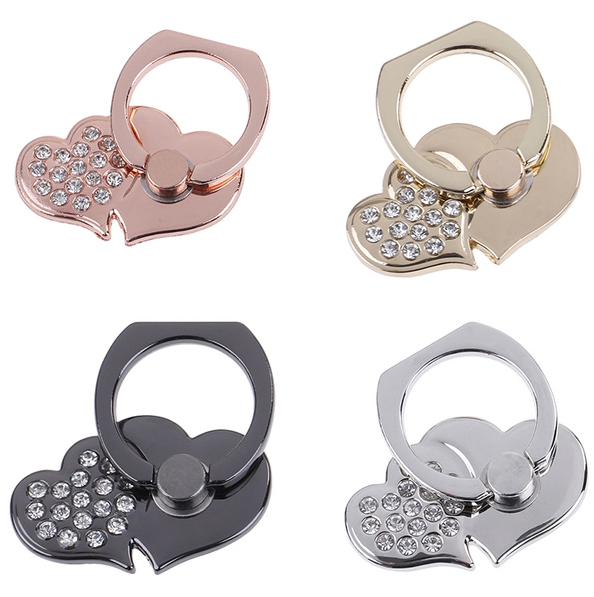 Heart Grip Ring Holder Bracket For All Mobile Phones 360 Finger Tablet Cell Phone