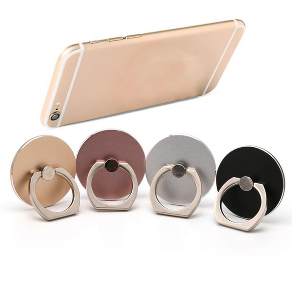 High Quality 360 Rotating Phone Ring Holder Finger Grip Round Metal Holder Gift for iPhone