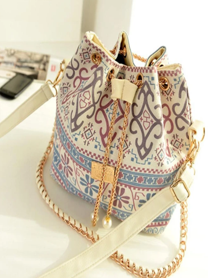 YOAUS BOHEMIAN DRAWSTRING BUCKET BAG