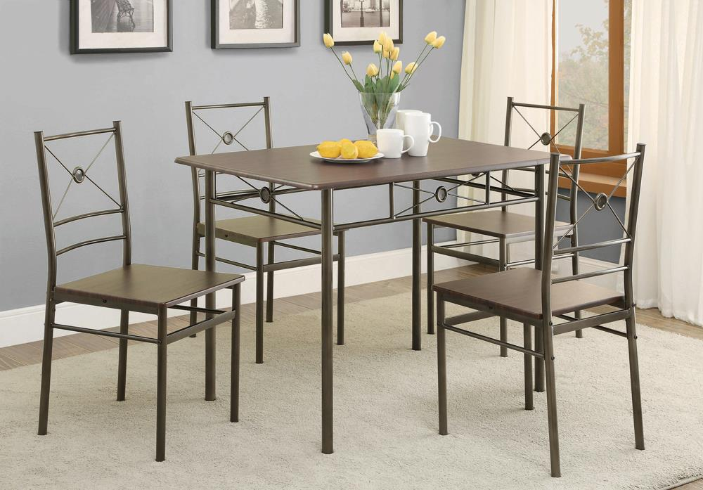 Transitional Walnut Five-Piece Set image