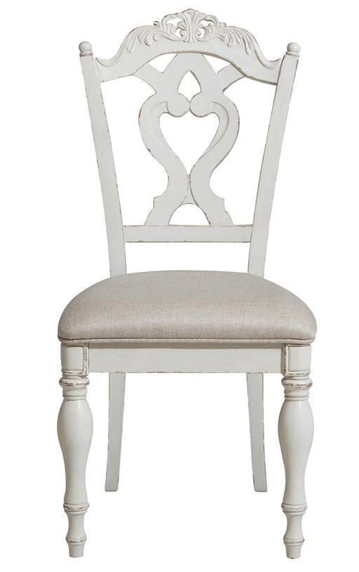 Homelegance Cinderella Chair in Antique White with Grey Rub-Through 1386NW-11C image