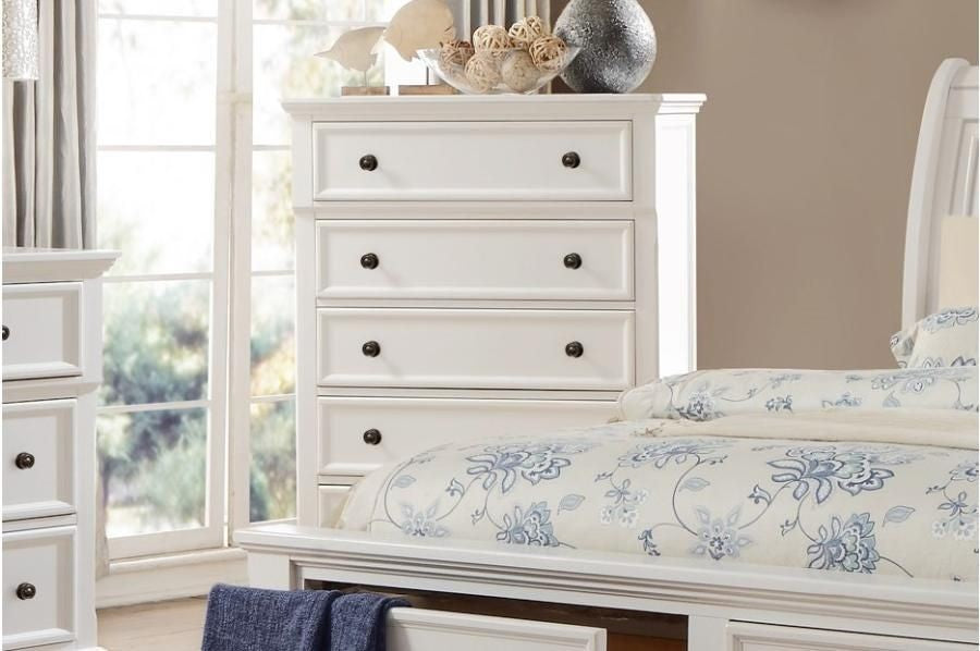 Homelegance Laurelin 5 Drawer Chest in White 1714W-9 image
