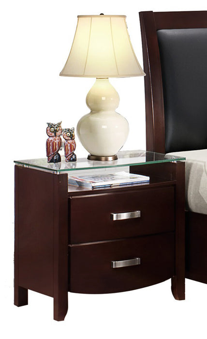Homelegance Lyric 2 Drawer Nightstand in Dark Espresso 1737NC-4 image