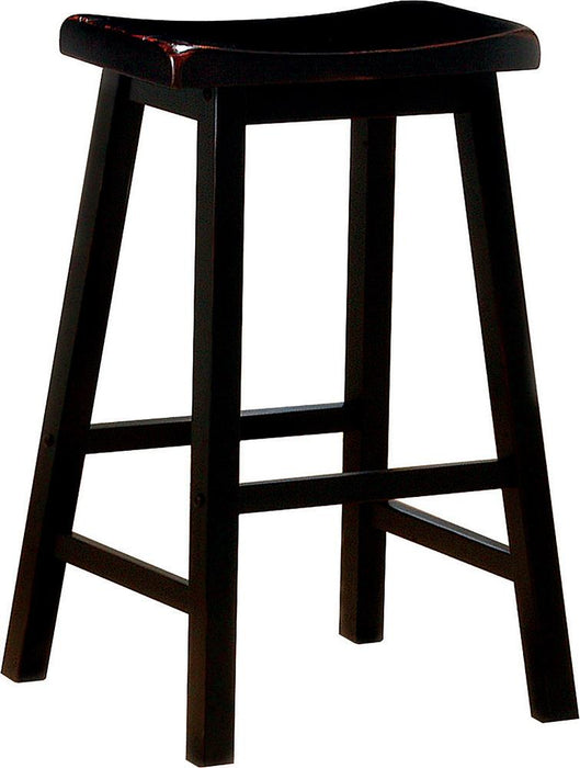 Transitional Black Bar-Height Stool image