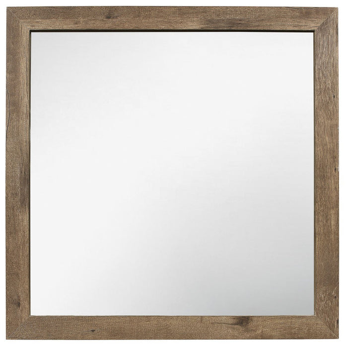 Homelegance Furniture Mandan Mirror in Weathered Pine 1910-6 image