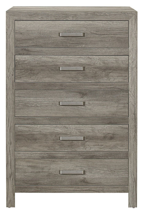 Homelegance Furniture Mandan 5 Drawer Chest in Weathered Gray 1910GY-9 image