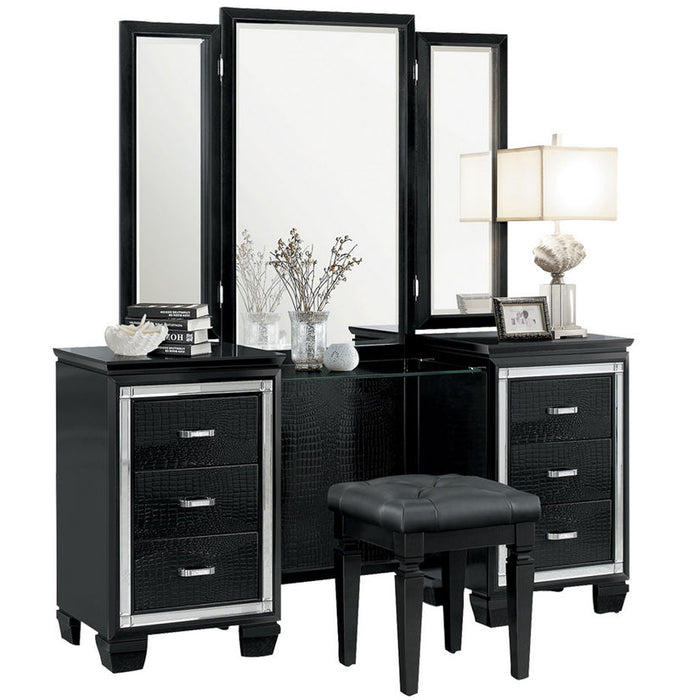 Homelegance Allura Vanity Dresser with Mirror in Black 1916BK-15* image