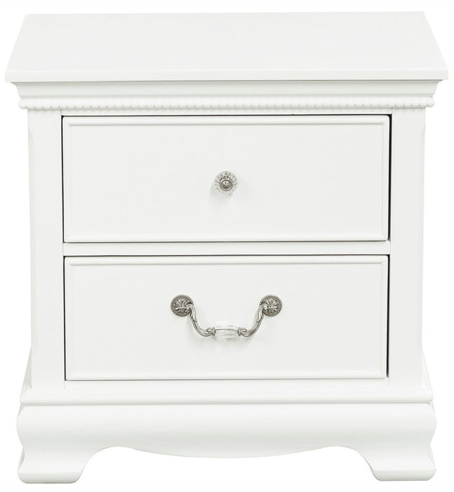 Homelegance Lucida 2 Drawer Nightstand in White 2039W-4 image