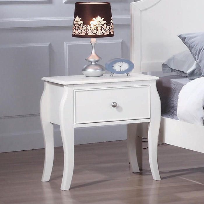 Dominique French Country White Nightstand image
