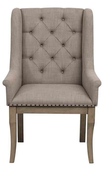 Homelegance Vermillion Arm Chair in Gray (Set of 2) image
