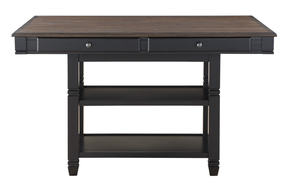 Homelegance Baywater Counter Height Table in Natural and Black 5705BK-36 image