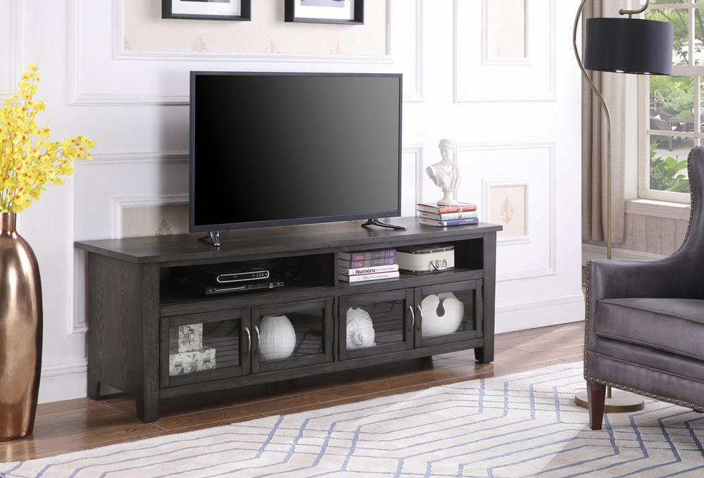 "Transitional Dark Grey 72"" TV Console image"