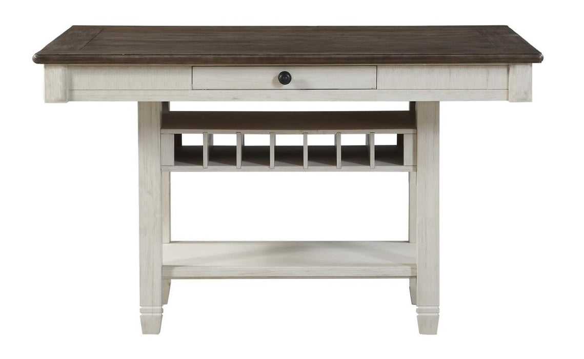 Homelegance Granby Counter Height Dining Table in White & Brown 5627NW-36* image