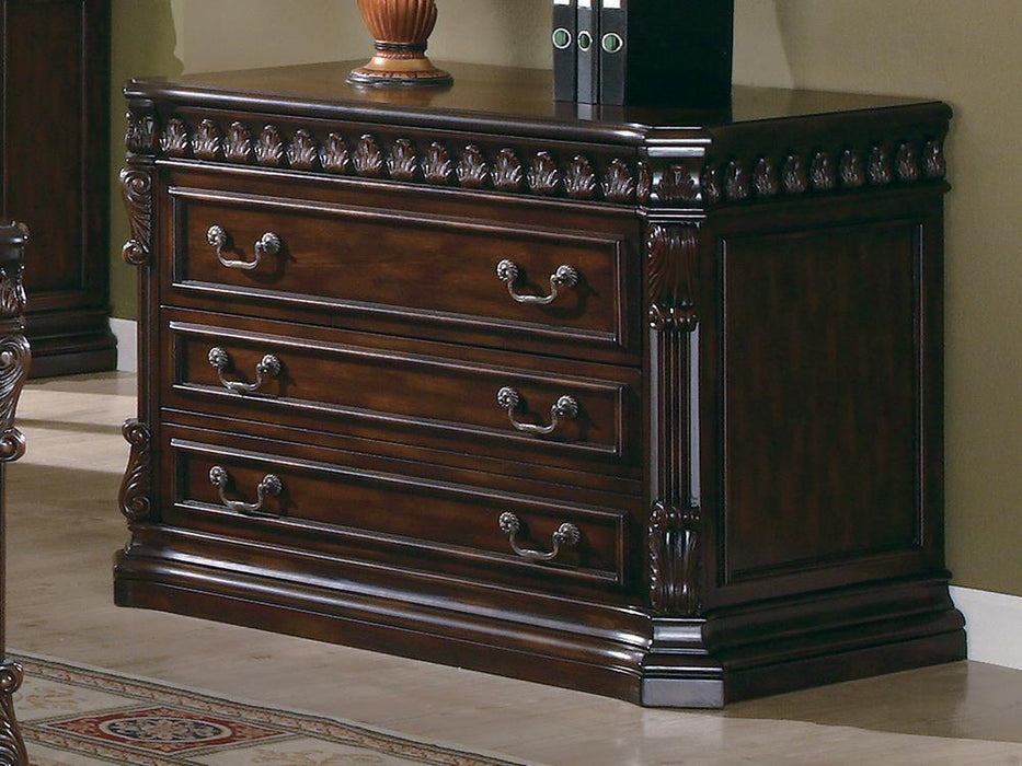 Tucker Rich Brown Three-Drawer File Cabinet image