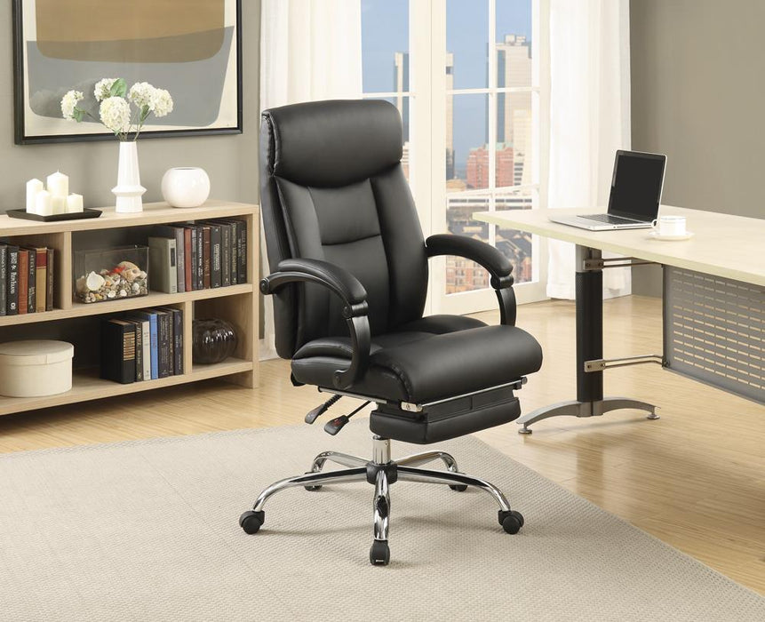 Transitional Chrome Office Chair image