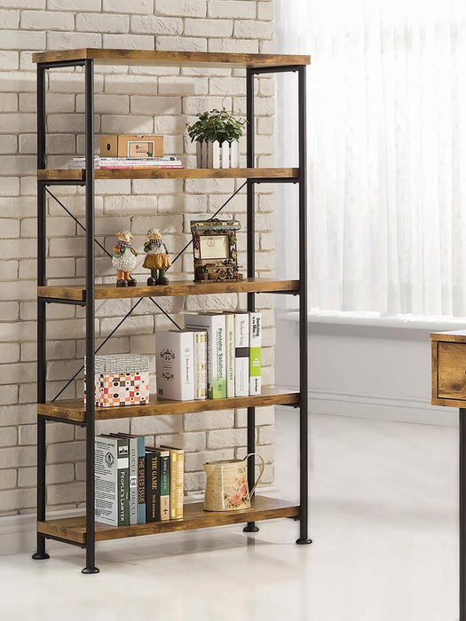 Barritt Industrial Antique Nutmeg Bookcase image
