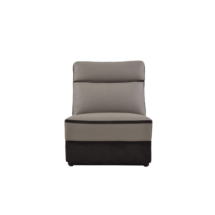 Homelegance Furniture Laertes Armless Chair in Taupe Gray 8318-AC image