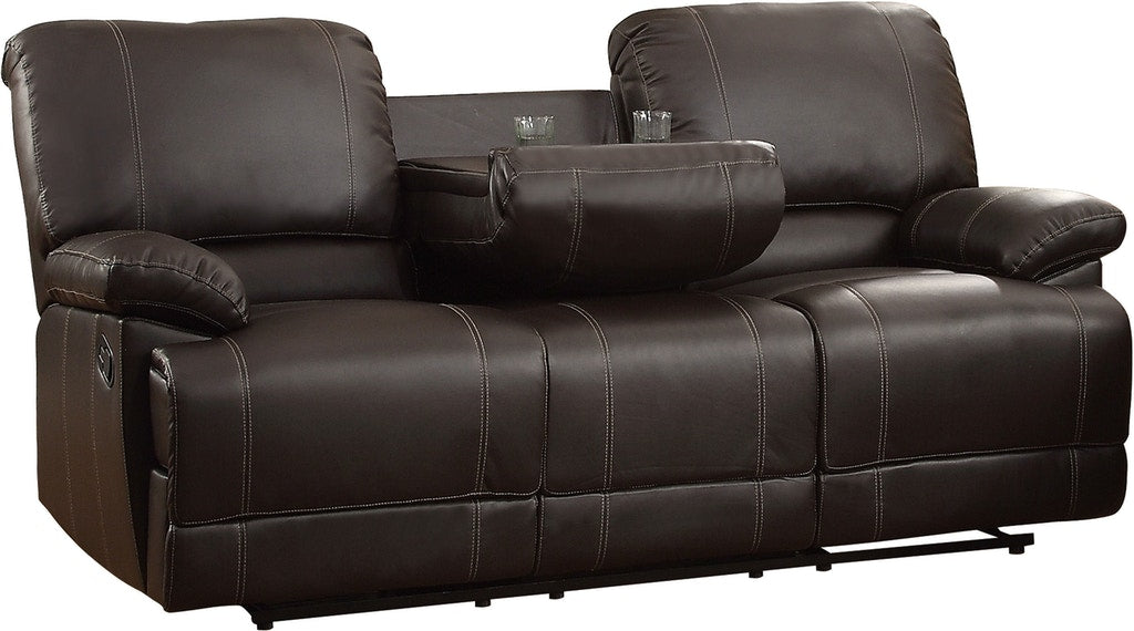 Homelegance Furniture Cassville Double Reclining Sofa in Dark Brown 8403-3 image