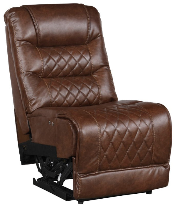 Homelegance Furniture Putnam Power Armless Reclining Chair in Brown 9405BR-ARPW image