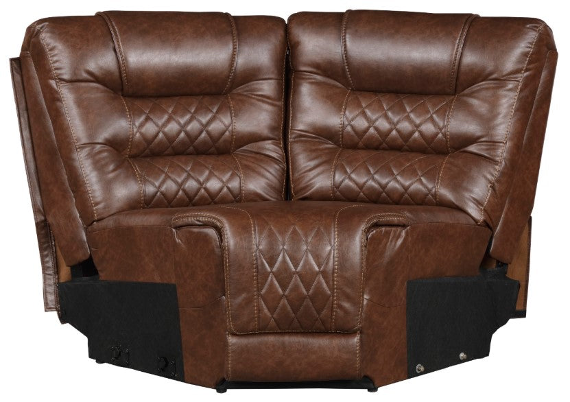 Homelegance Furniture Putnam Corner Seat in Brown 9405BR-CR image