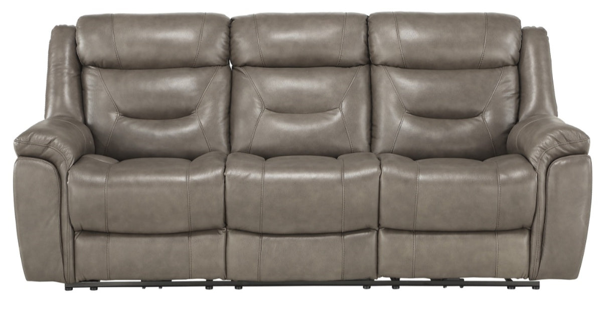 Homelegance Furniture Danio Power Double Reclining Sofa with Power Headrests in Brownish Gray 9528BRG-3PWH image