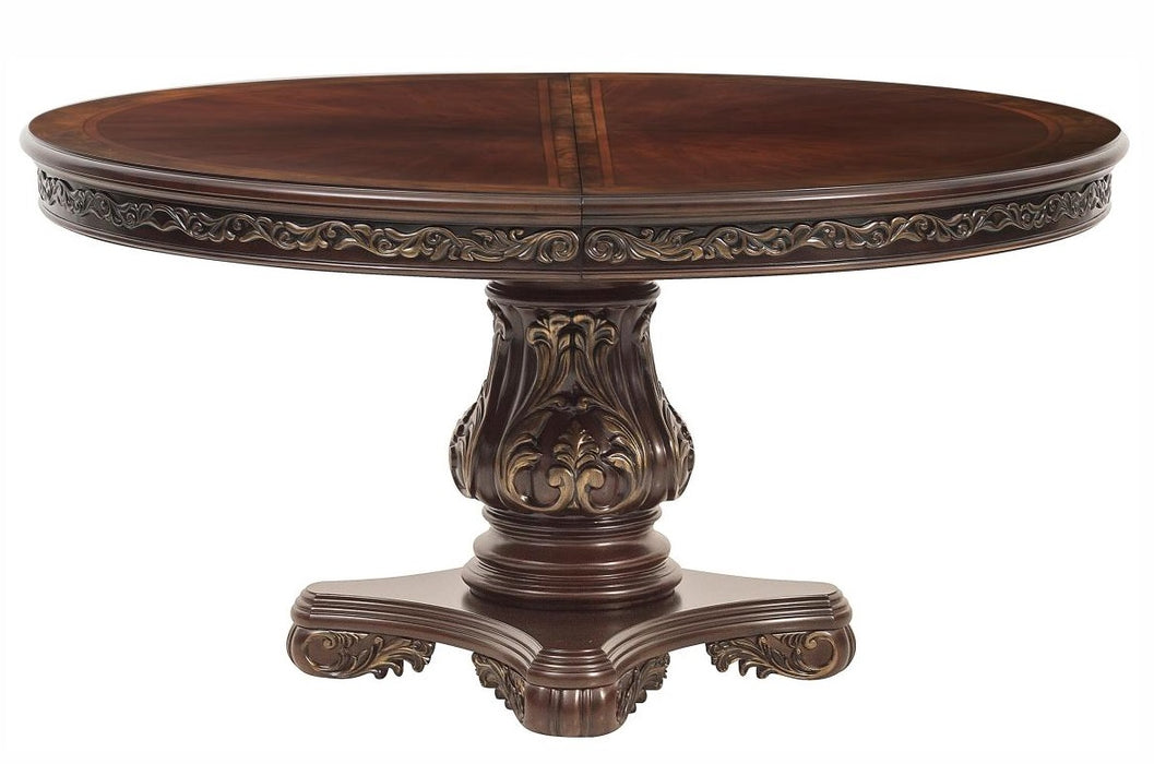 Homelegance Deryn Park Round Dining Table in Dark Cherry 2243-76* image