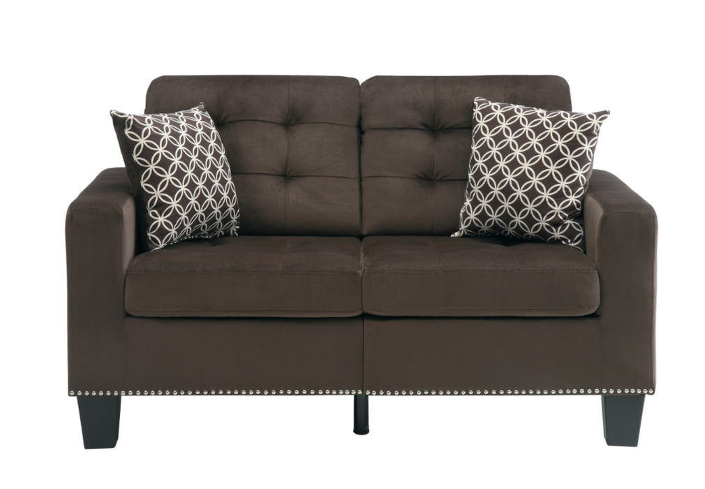 Homelegance Furniture Lantana Loveseat in Chocolate 9957CH-2 image