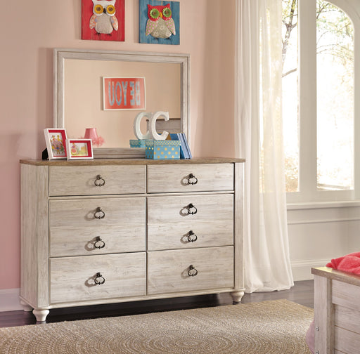 Willowton Signature Design by Ashley Youth Dresser and Mirror image