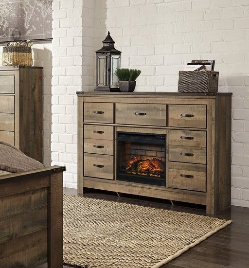 Trinell Signature Design by Ashley Dresser with Electric Fireplace image