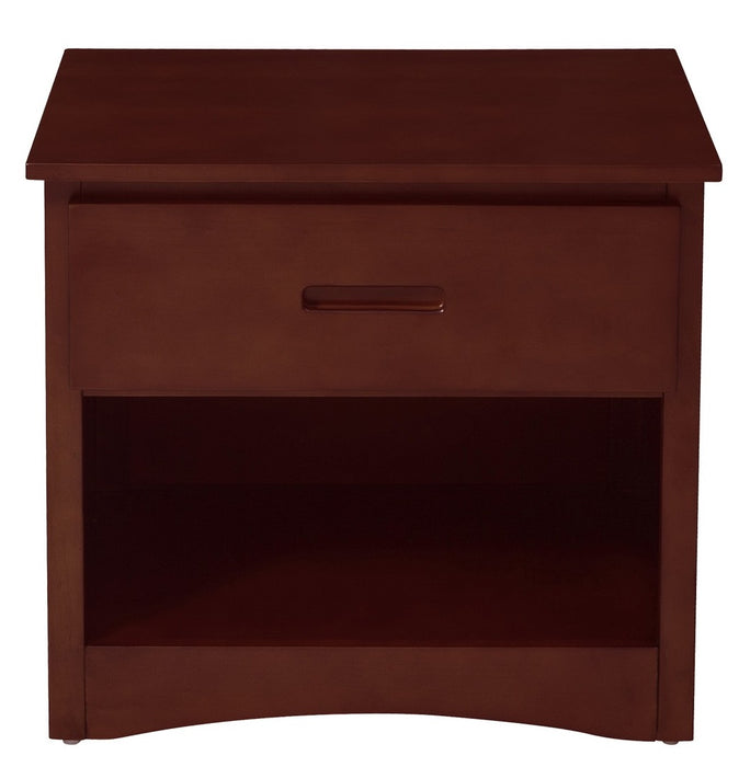 Homelegance Rowe 1 Drawer Night Stand in Dark Cherry B2013DC-4 image