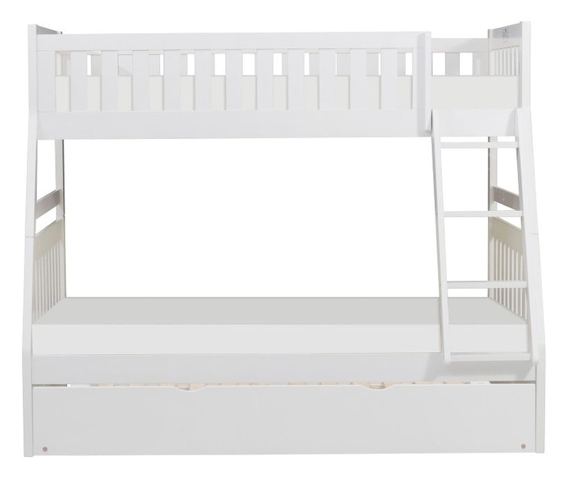 Homelegance Galen Twin/Full Bunk Bed w/ Twin Trundle in White B2053TFW-1*R image