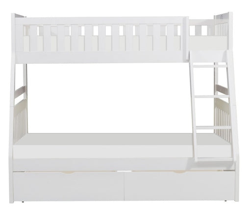 Homelegance Galen Twin/Full Bunk Bed w/ Storage Boxes in White B2053TFW-1*T image