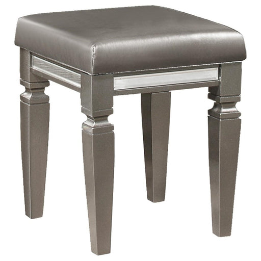 Homelegance Tamsin Vanity Stool in Silver Grey Metallic 1616-14 image