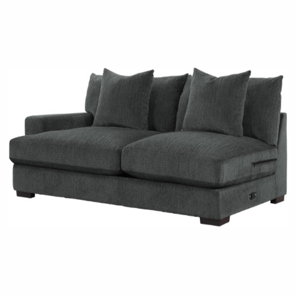Homelegance Furniture Worchester Left Side 2-Seater in Gray 9857DG-2L image